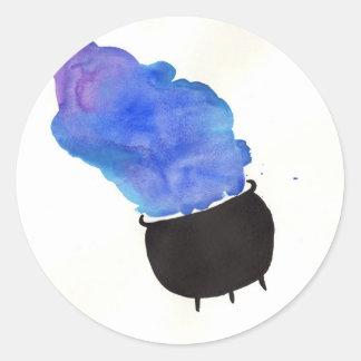 Sticker Rond Chaudron de tabagisme