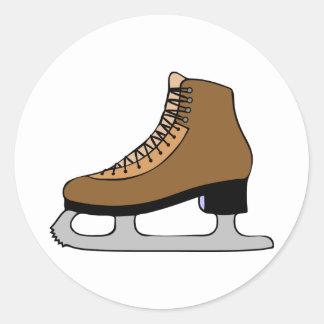 Sticker Rond Chaussure de patin de glace