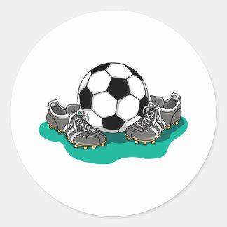 Sticker Rond Chaussures de ballon de football