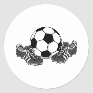 Sticker Rond Chaussures de ballon de football