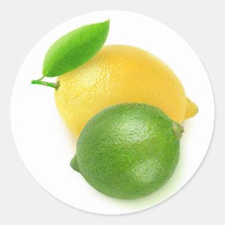 Sticker Rond Chaux et citron