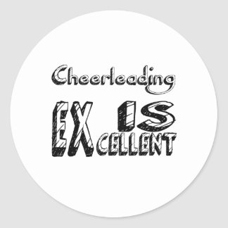 Sticker Rond Cheerleading est excellent
