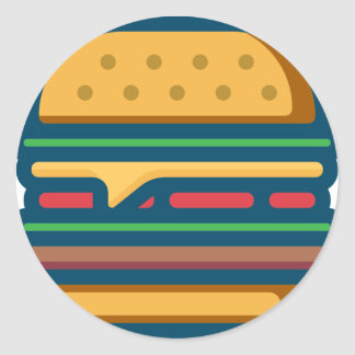 Sticker Rond Cheeseburger de Charbroiled