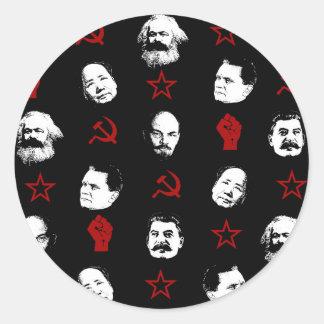 Sticker Rond Chefs communistes
