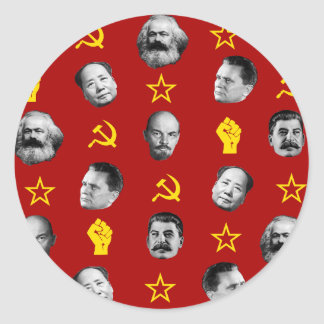 Sticker Rond Chefs communistes