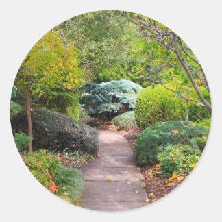Sticker Rond Chemin à la tranquilité