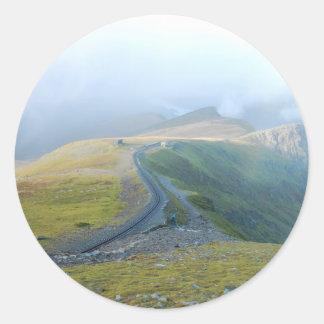 Sticker Rond Chemin de montagne de vue et de Gallois de