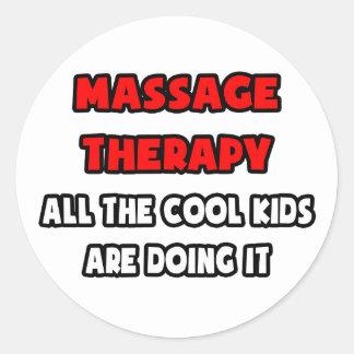 Sticker Rond Chemises et cadeaux drôles de thérapeute de