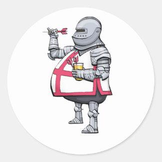 Sticker Rond Chevalier de dards - aléatoire