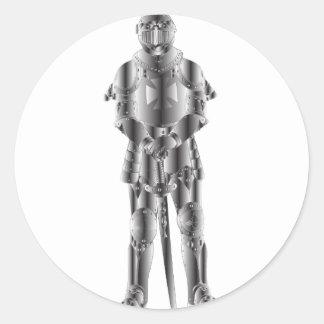 Sticker Rond Chevalier en métal