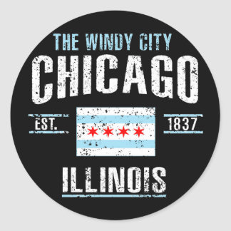 Sticker Rond Chicago