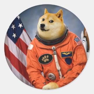 Sticker Rond chien d'astronaute - doge - shibe - memes de doge
