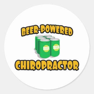 Sticker Rond Chiroprakteur Bière-Actionné