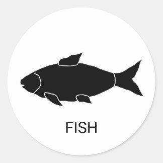 Sticker Rond Choix de repas de mariage de poissons