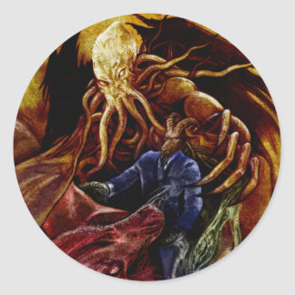 Sticker Rond Chthulhu Domine
