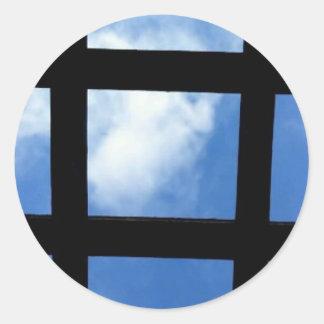 Sticker Rond Ciel bleu