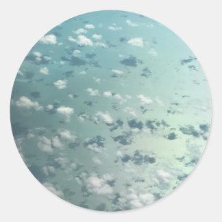 Sticker Rond Ciel et nuages