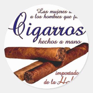 Sticker Rond Cigarros - Cirars