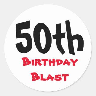 Sticker Rond cinquantième Anniversaire de typographie du