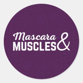 Sticker Rond Citation de gymnase de mascara et de muscles
