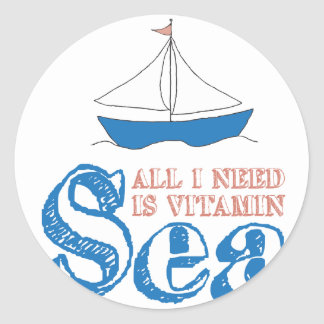 Sticker Rond Citation nautique