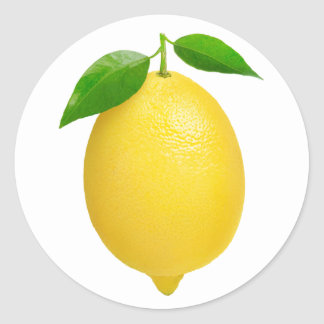 Sticker Rond Citron