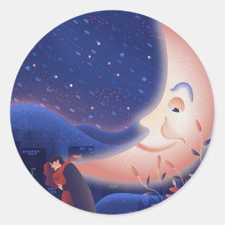 Sticker Rond Clair de lune