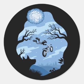 Sticker Rond Clair de lune Hangin