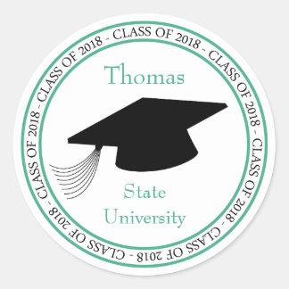 Sticker Rond Classe de la faveur 2018 d'obtention du diplôme