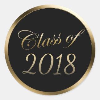 Sticker Rond Classe d'obtention du diplôme de la frontière 2018