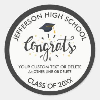 Sticker Rond Classe faite sur commande de casquette de diplômé
