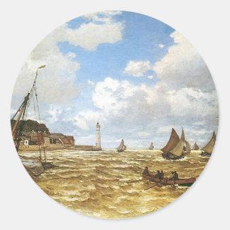 Sticker Rond Claude Monet - bouche de l'illustration de la