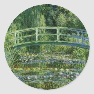 Sticker Rond Claude Monet - pont japonais