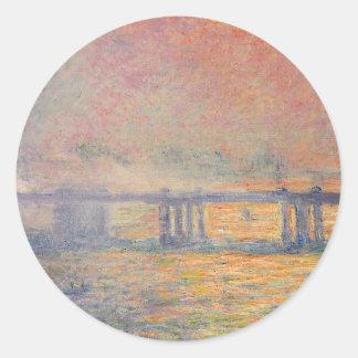 Sticker Rond Claude Monet - Saint Louis de pont croisé de