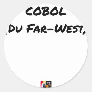 Sticker Rond Cobol (Du Far-West) - Jeux de Mots- Francois Ville
