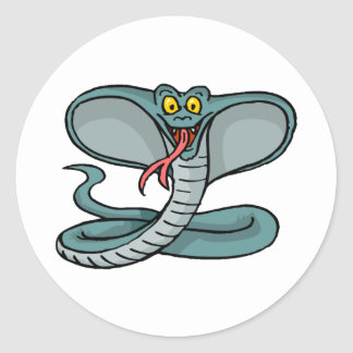 Sticker Rond Cobra heureux