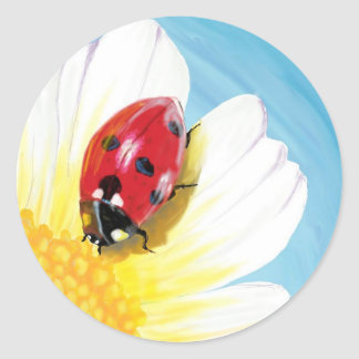Sticker Rond Coccinelle lumineuse