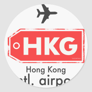 Sticker Rond Code d'aéroport de Hong Kong HKG