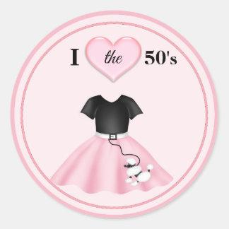 """Sticker Rond Coeur de la jupe I de caniche le 50"""" s"""