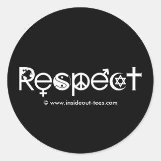 Sticker Rond Coexistent avec le respect - la gentillesse et la