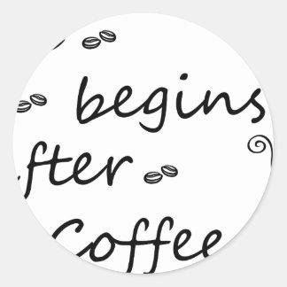 Sticker Rond coffee18