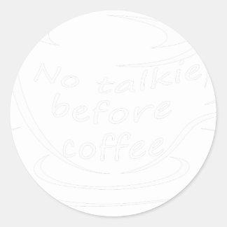 Sticker Rond coffee23