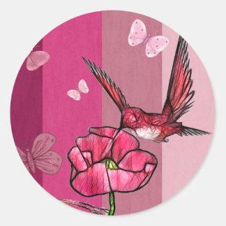 Sticker Rond colibri