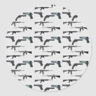 Sticker Rond Collage d'armes