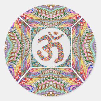 Sticker Rond Collection de bijou d'incantation de l'OM