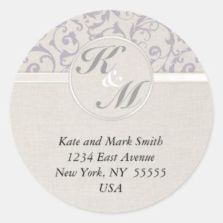 Sticker Rond Collection de mariage de lavande de SmartElegance