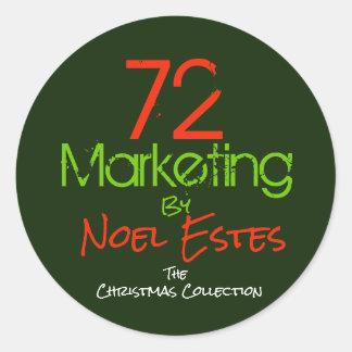 Sticker Rond collection de Noël d'autocollant du logo