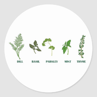 Sticker Rond Collection d'herbe