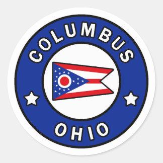 Sticker Rond Columbus Ohio