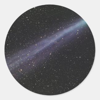 Sticker Rond Comète verte